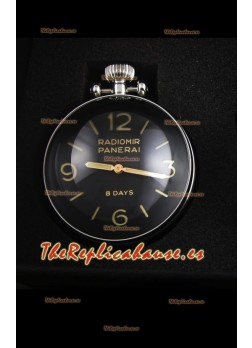 Panerai Radiomir 8 Days PAM581 Table Clock Reloj Suizo with Box and Watch Stand